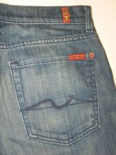 7 For all Mankind Jeans Mens Relaxed Straight Leg Dark Distressed 31 X 28