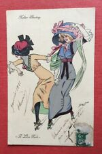 CPA. Illustrateur Xavier SAGER. Roller Skating. A Lina Park. 1911.Patin Roulette