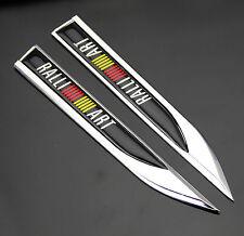 RALLIART MITSUBISHI Car Trunk Side Wing Fender Metal Emblem Badge Sticker Decal