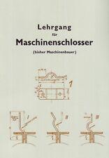 Lehrgang für Maschinenschlosser Metallbau Schmieden Vorlagen 1926 Reprint