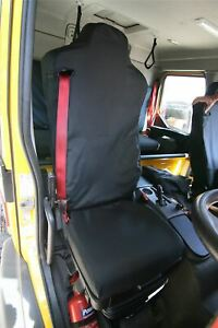 Renault D Series Truck Seat Cover-SINGLE DRIVER Black TAILORED/WATERPROOF