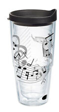 Tervis Tumbler 24 oz Large Music Sheet Theme With Lid