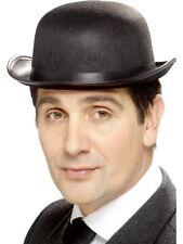 Tales Of Old England Mens 1920s Bowler Fancy Dress Hat Black