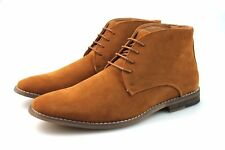 Mens Black Navy Blue Tan Chukka Desert Boots Faux Suede Chelsea Winter All Sizes