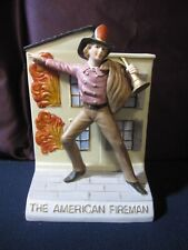 The American Fireman Decanter Mount Hope Collectible 1990