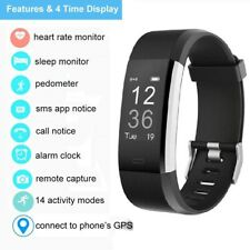 Fitness Tracker Bluetooth Hr Monitor Activity Watch Sleep Wristband Bracelet New