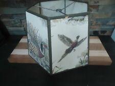 VINTAGE HUNTING CAMP RARE LAMP SHADE-COTTAGE-DOG-BIRD-DECOR-HOME DECOR-1940