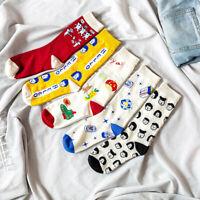 Women Socks Harajuku Skateboard Socks Fashion Short Socks Funny Cotton Socks H0