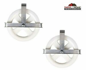 """2 Clothesline 5"""" Pulley Laundry Clothes Dryer ~ New"""