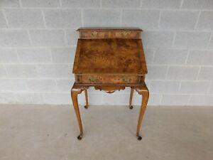 """Weiman Georgian Queen Anne Style Walnut Slant Front Writing Desk 41""""H x 26""""W"""