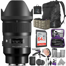 Sigma 35mm f/1.4 DG HSM Art Lens for Sony E Mount Cameras with Advanced Bundle