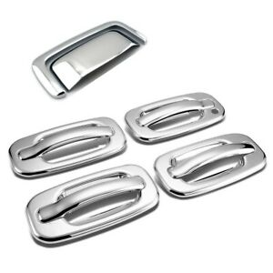 For 2000-2006 Chevy Sububan Tahoe / GMC Yukon Chrome 4Dr + Tailgate Handle Cover