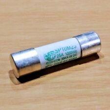 25A 25 AMP 1000V DC 20KA IR DC Solar Protection Fuse (10 x 38mm) (SP10M25)