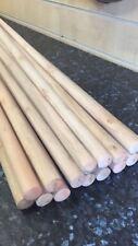 "Pack Of 50 Wooden Broom Handles 5ft x1-1/8"" (1500 x 28mm)sweep brush sweeping PK"