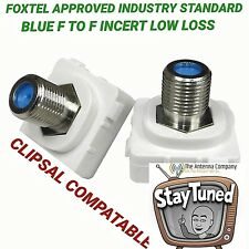 F Type to PAL Plug Connector for Custom Clipsal Wall Plate x2
