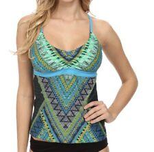 Prana CYRA Tankini Top Vivid Blue Swim Suit Size XS NEW Retail $79