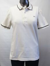 Lacoste,Neuwertig,Damen,Polo,Shirt,Creme,XL(USA),Gr.44