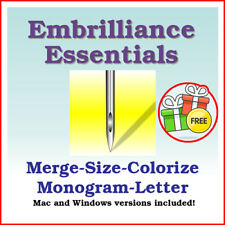 Embrilliance Essentials 1.156  Embroidery Design Editing Software resizing