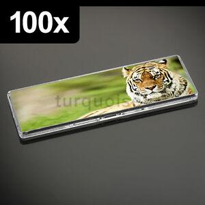 100x Premium Calidad Acrílico Transparente Blanco Nevera Imanes 141 X 45MM Foto