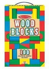Melissa & Doug 481 Wooden Building Blocks 100  Pieces