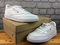 REEBOK LADIES UK 7 EU 40.5 CLUB C 85 TRAINERS WHITE GREY GUM SOLE RRP £65 M