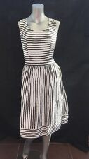 New Tu Clothing Nautical Embroidered Stripe Skater Dress 100% Cotton UK 16 CR81