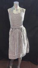 New Tu Clothing Nautical Embroidered Stripe Skater Dress 100% Cotton UK 12 CR79
