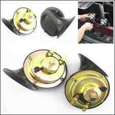 Car SUV Pickup 2 Pcs Black 12V Loud Dual-tone Snail Electric Compact Horn 110dB