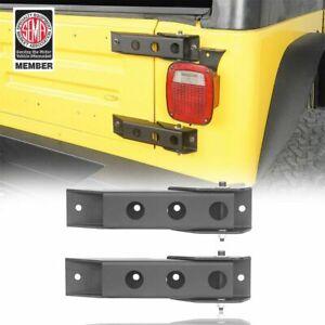 Pair Steel Tailgate Hinge Replacement  Kit For 1997-2006 Jeep Wrangler TJ Black