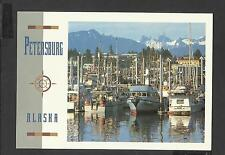 Colour Postcard  Fishing Boats and Devils Thumb Persburg  Alaska unposted