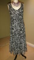 Per Una Fit & Flare Lace Dress, White & Black With Matching Shrug Size UK 14 L