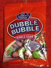 America's Original Double Dubble Bubble Gum Fruit Flavors Watermelon Apple Grape