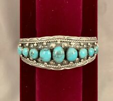 Navajo Handmade Sterling Silver & Turquoise Bracelet