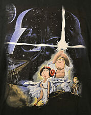 The Family Guy Blue Harvest Star Wars Parody Short Sleeve Tee Shirt Black XL