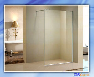 Paroi de douche fixe montage libre avec profil en alu - Salle de bains