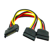 2pcs SATA II hard disk Power Male to 2 Female Splitter Y 1 to 2 extension Cable