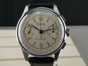 Vintage Sammleruhr  DOXA Chronograph swiss made Schaltrad Valjoux 22