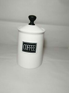 THL Classic French Chic Black Style Top COFFEE Canister