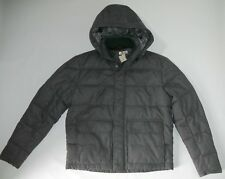 PETER MILLAR Hooded INSULATED Puffer Quilted Gray Winter JACKET Mens LARGE NEW