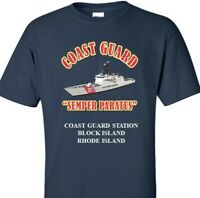 COAST GUARD STATION BLOCK ISLAND-RHODE ISLAND * COAST  VINYL PRINT SHIRT/SWEAT