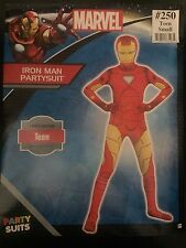 Iron Man Party Suit Marvel Bodysuit Fancy Dress Teen Small up to 4'5""