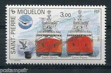 ST-PIERRE-et-MIQUELON, 1990, timbre 528, BATEAUX, PROUES ST DENIS, neuf**