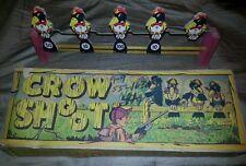 VINTAGE ANTIQUE CROW SHOOT CARDBOARD TARGET GAME