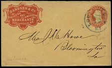 GARDNER & Co. GROCERS, RED CAMEO COVER ON #U10 ENTIRE BQ397