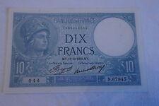 10 FRANCS MINERVE 1936  *** SPL***