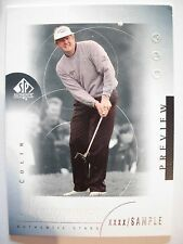 2001 SP AUTHENTIC PREVIEW SAMPLE CARD COLIN MONTGOMERIE # 34 !!! BOX 21