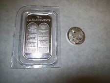 1oz TEN 10 COMMANDMENTS .999 PURE SILVER BAR  Bible money  Gods law