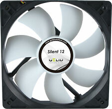 2 x Pack of Gelid Solutions Silent 12, Quiet Case Fans, 120mm, 1000rpm, 37 CFM