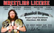 Daniel Bryan wrestling novelty collectors card Drivers License wwe wwf wcw