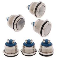 1Pc Momentary Push Button Switch 22mm Waterproof Flush Mount Button Switc iv